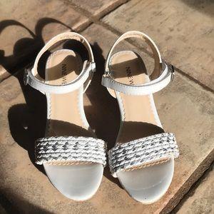 Girls white Platform Sandal by Nine West